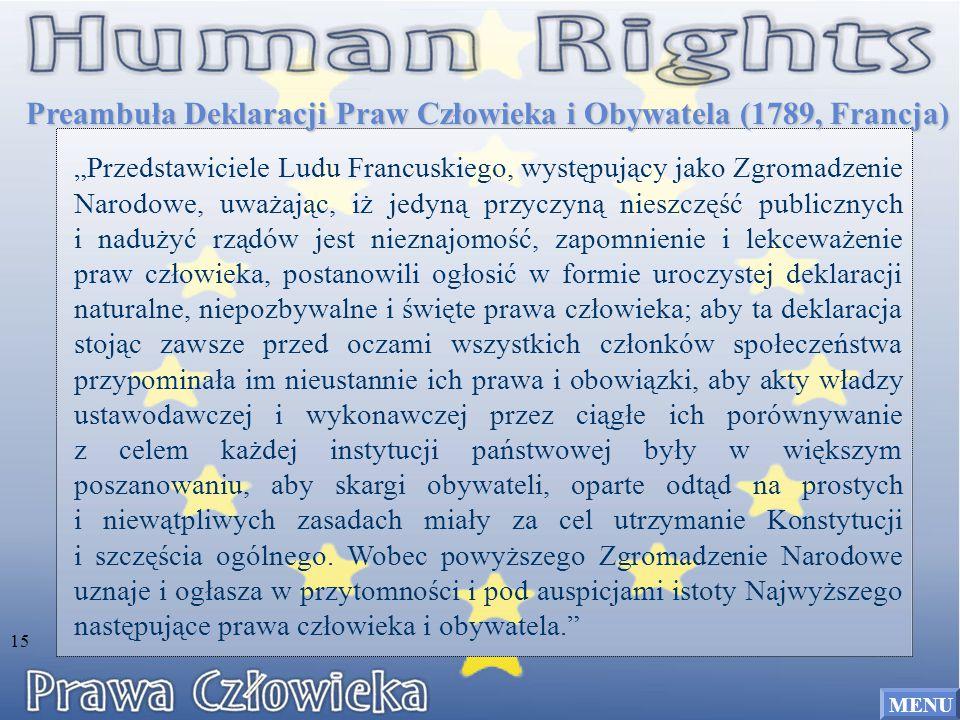 Preambuła Deklaracji Praw Człowieka i Obywatela (1789, Francja)