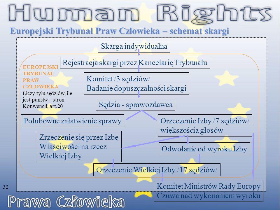 Europejski Trybunał Praw Człowieka – schemat skargi
