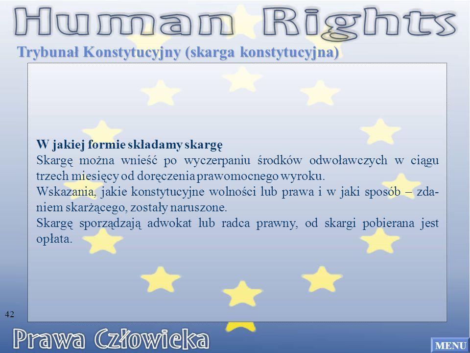 Trybunał Konstytucyjny (skarga konstytucyjna)