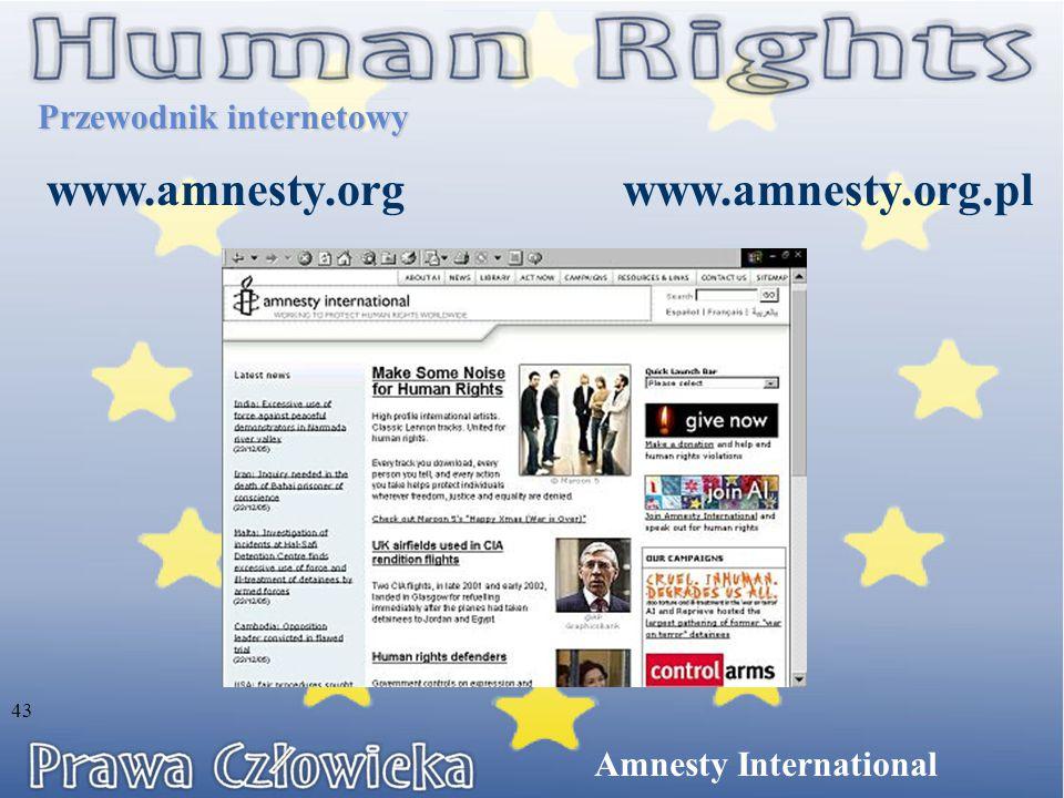 www.amnesty.org www.amnesty.org.pl Przewodnik internetowy