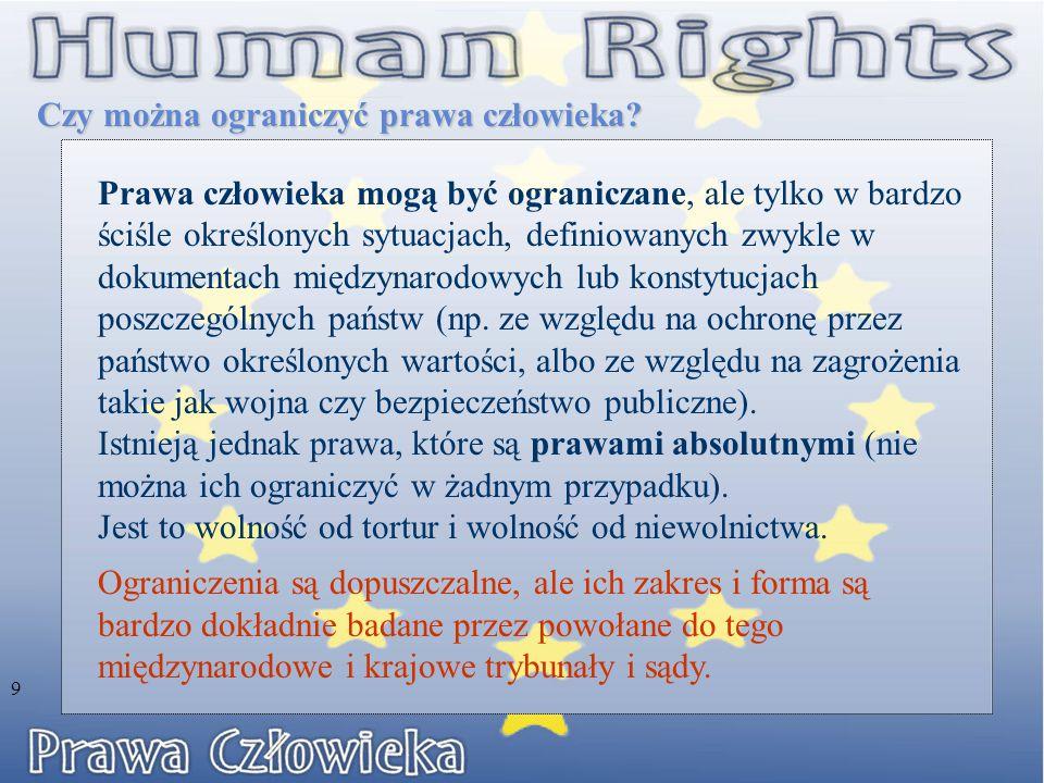 Czy można ograniczyć prawa człowieka
