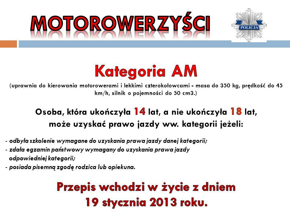 Przepis wchodzi w życie z dniem 19 stycznia 2013 roku.