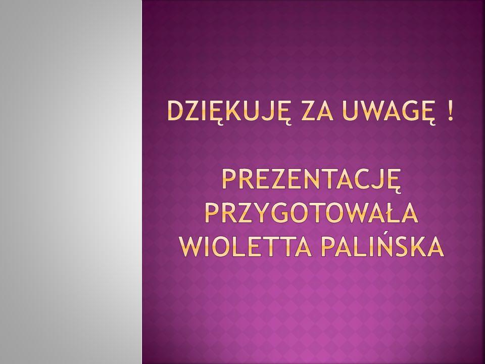 Dziękuję za uwagę ! Prezentację przygotowała Wioletta Palińska