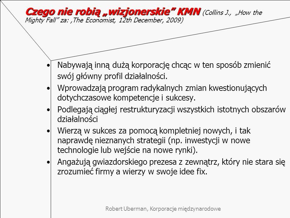 Robert Uberman, Korporacje międzynarodowe