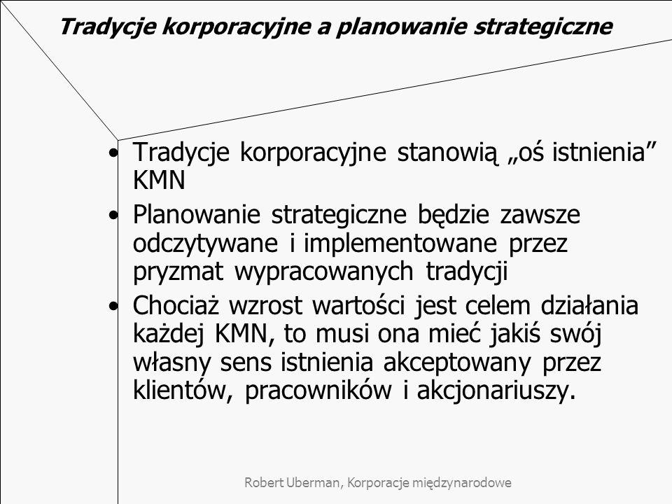 Tradycje korporacyjne a planowanie strategiczne