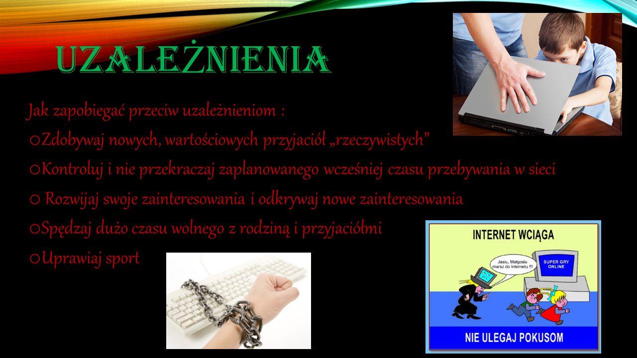 Uzależnienia Jak zapobiegać przeciw uzależnieniom :
