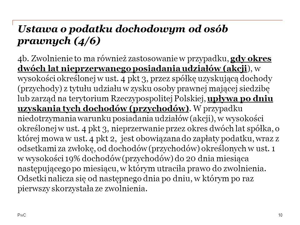 Ustawa o podatku dochodowym od osób prawnych (4/6)