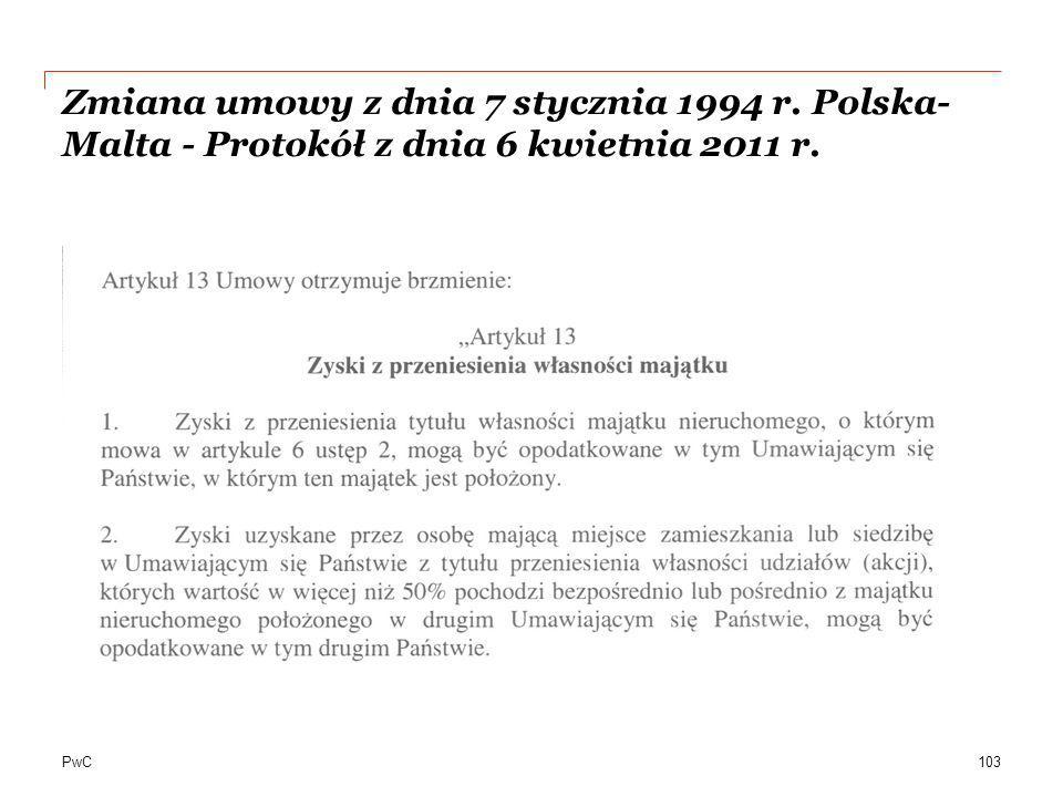 Zmiana umowy z dnia 7 stycznia 1994 r