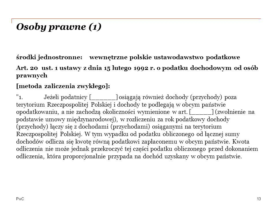 Osoby prawne (1)