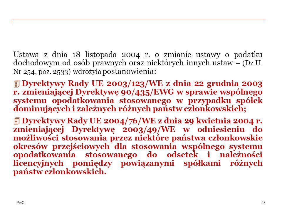 Ustawa z dnia 18 listopada 2004 r
