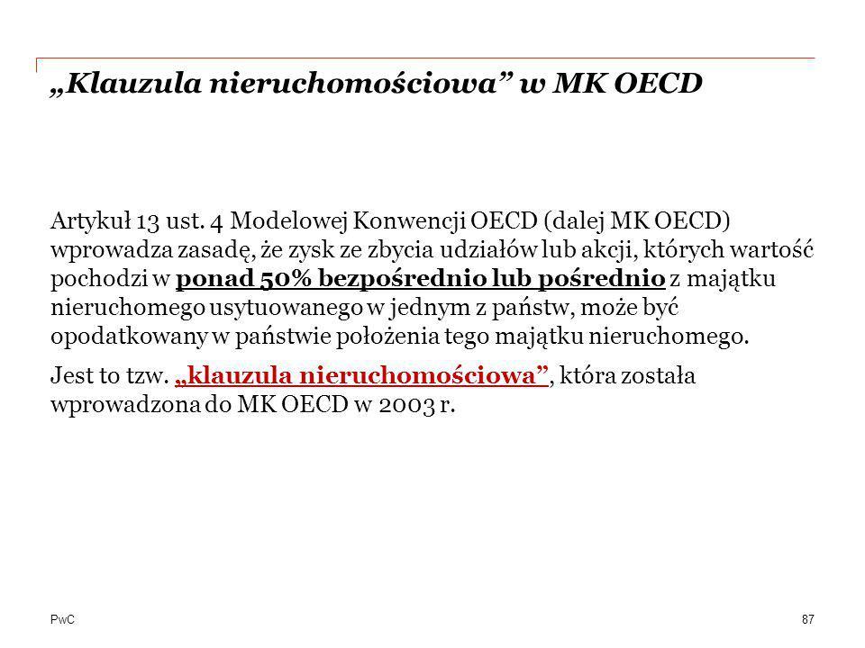 """""""Klauzula nieruchomościowa w MK OECD"""