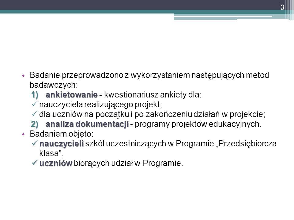 Badanie przeprowadzono z wykorzystaniem następujących metod badawczych: