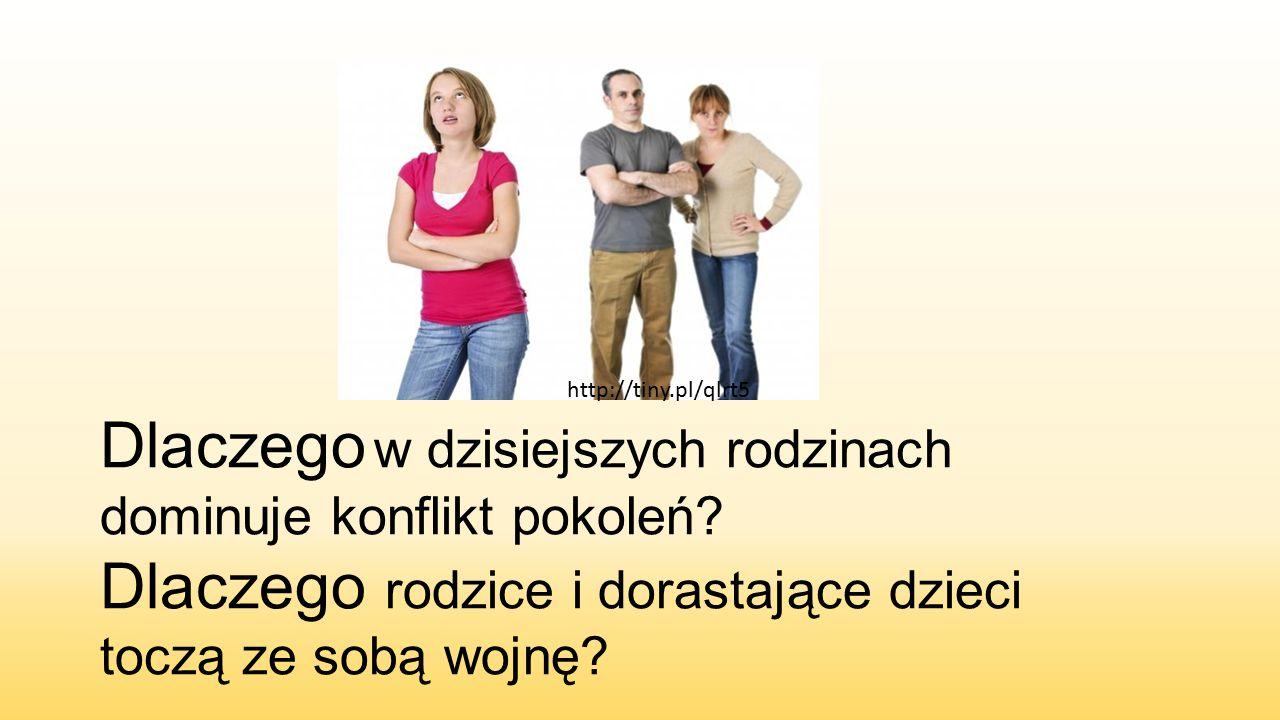 http://tiny.pl/qlrt5 Dlaczego w dzisiejszych rodzinach dominuje konflikt pokoleń.
