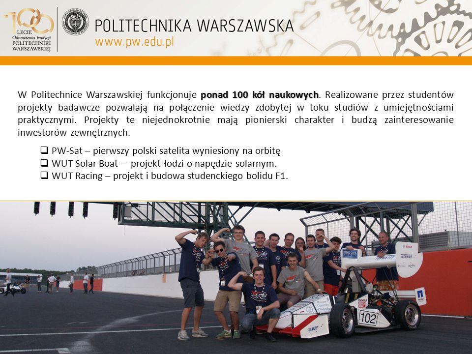 W Politechnice Warszawskiej funkcjonuje ponad 100 kół naukowych