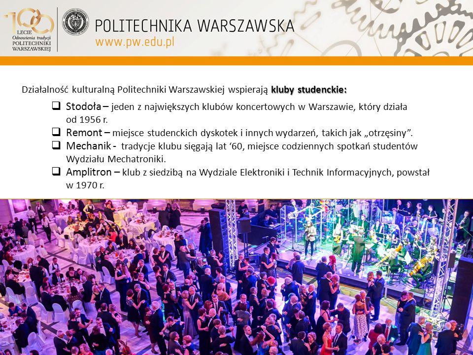 Działalność kulturalną Politechniki Warszawskiej wspierają kluby studenckie: