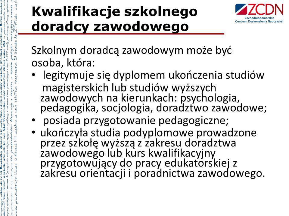 Kwalifikacje szkolnego doradcy zawodowego