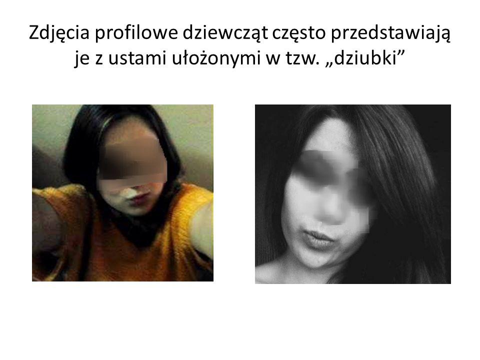 """Zdjęcia profilowe dziewcząt często przedstawiają je z ustami ułożonymi w tzw. """"dziubki"""