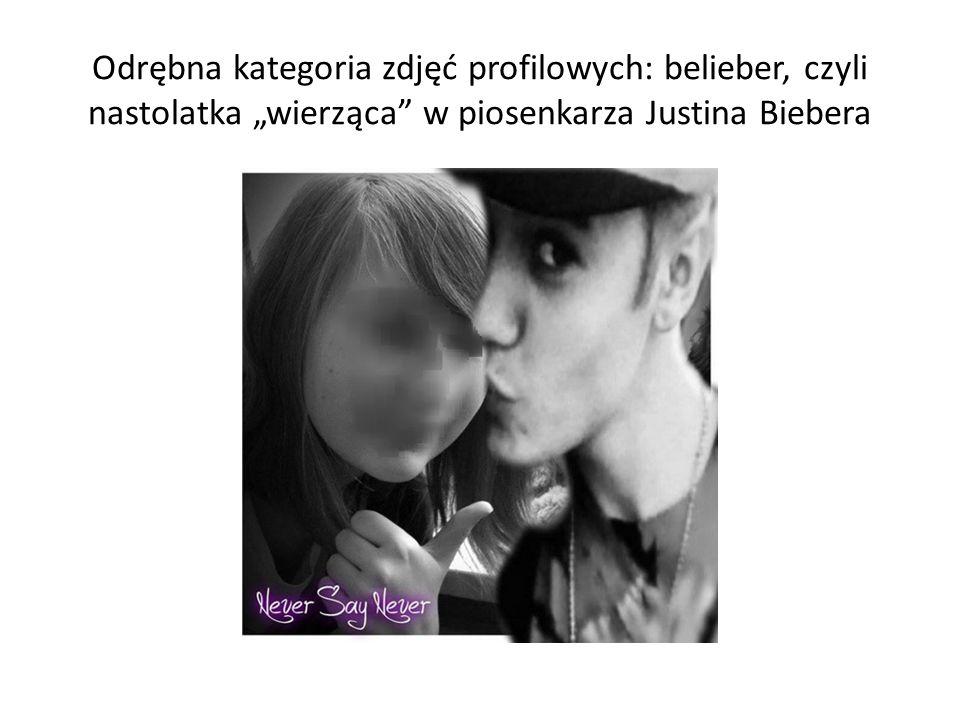 """Odrębna kategoria zdjęć profilowych: belieber, czyli nastolatka """"wierząca w piosenkarza Justina Biebera"""