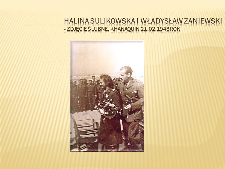 Halina Sulikowska i Władysław Zaniewski - zdjęcie ślubne, Khanaquin 21