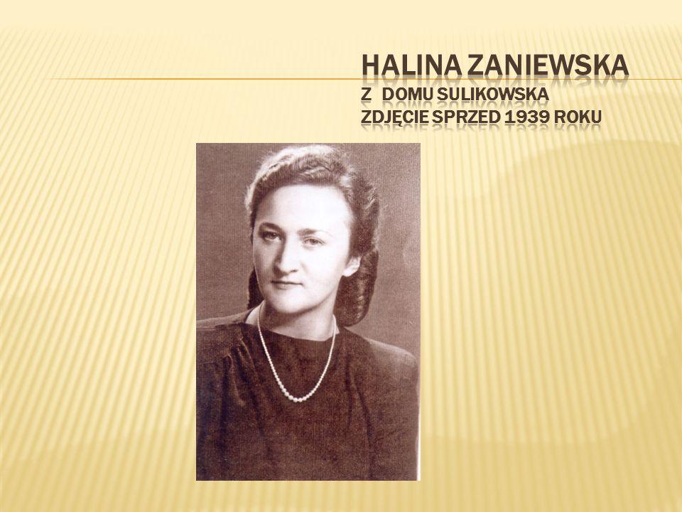 Halina Zaniewska z domu Sulikowska zdjęcie sprzed 1939 roku