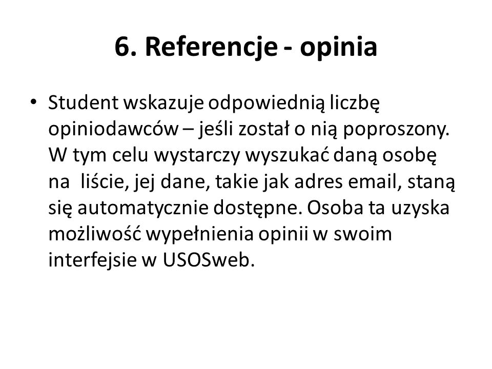 6. Referencje - opinia