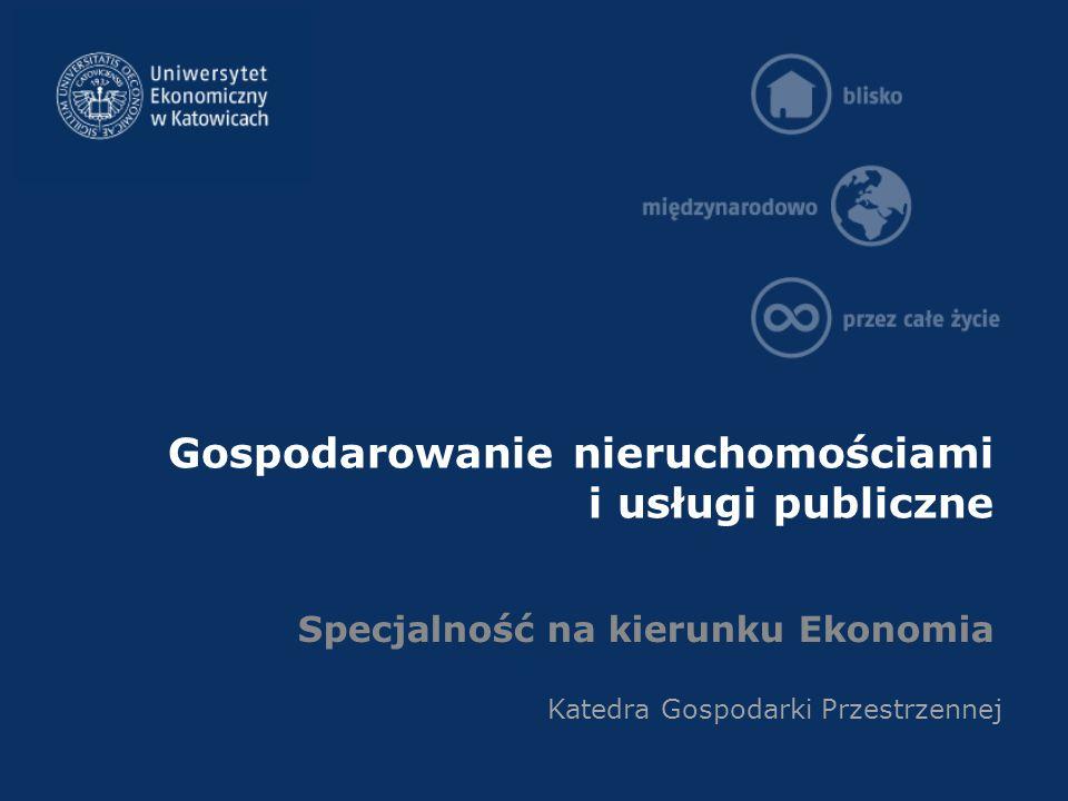 Gospodarowanie nieruchomościami i usługi publiczne