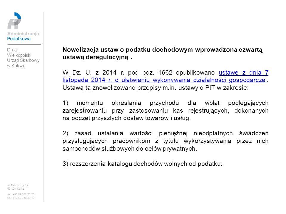3) rozszerzenia katalogu dochodów wolnych od podatku.