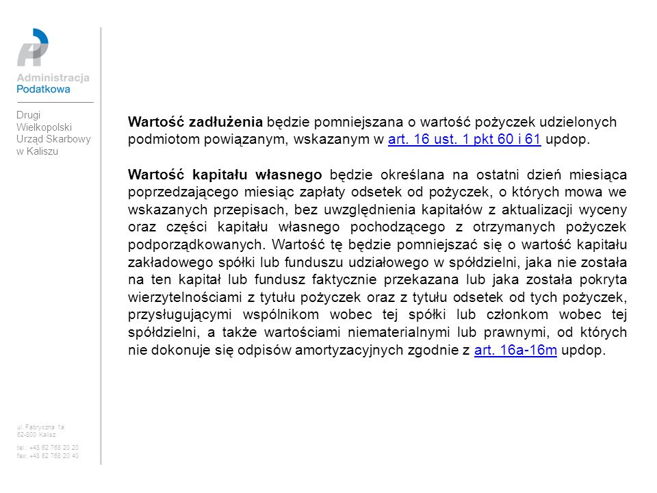 Drugi Wielkopolski Urząd Skarbowy w Kaliszu