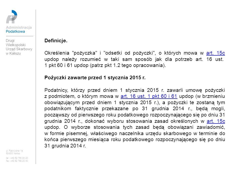 Pożyczki zawarte przed 1 stycznia 2015 r.