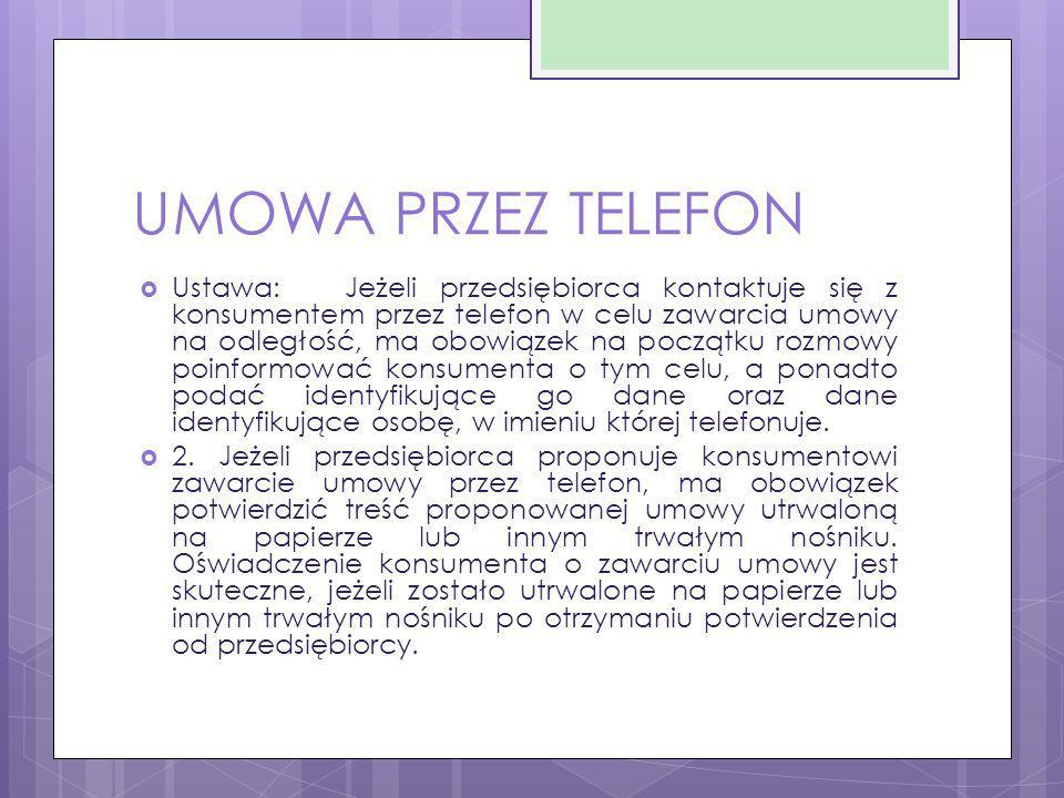UMOWA PRZEZ TELEFON