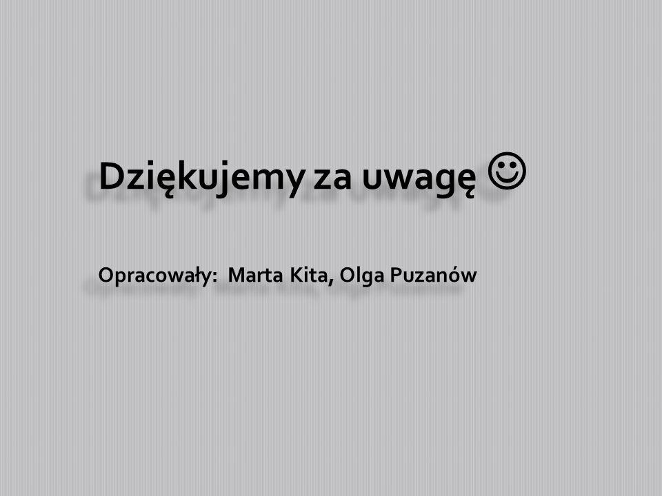 Dziękujemy za uwagę  Opracowały: Marta Kita, Olga Puzanów