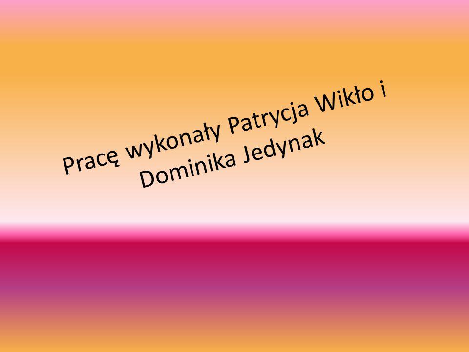 Pracę wykonały Patrycja Wikło i Dominika Jedynak