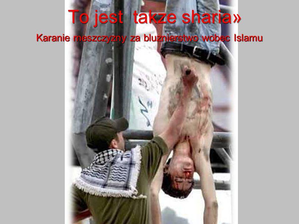 Karanie meszczyzny za bluznierstwo wobec Islamu