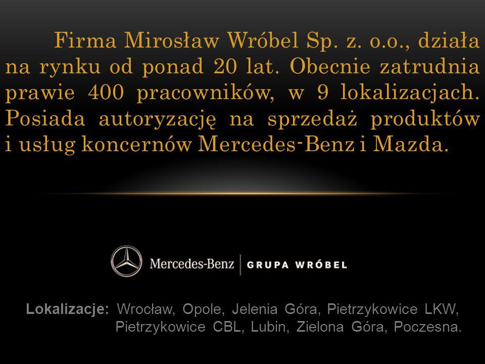 Firma Mirosław Wróbel Sp. z. o. o. , działa na rynku od ponad 20 lat
