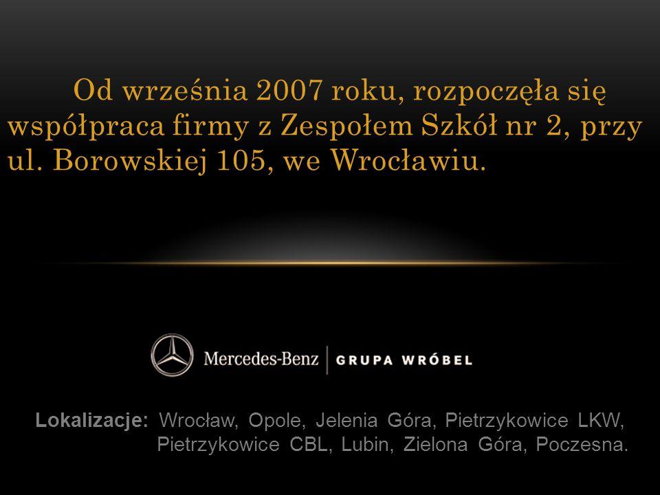 Od września 2007 roku, rozpoczęła się współpraca firmy z Zespołem Szkół nr 2, przy ul. Borowskiej 105, we Wrocławiu.