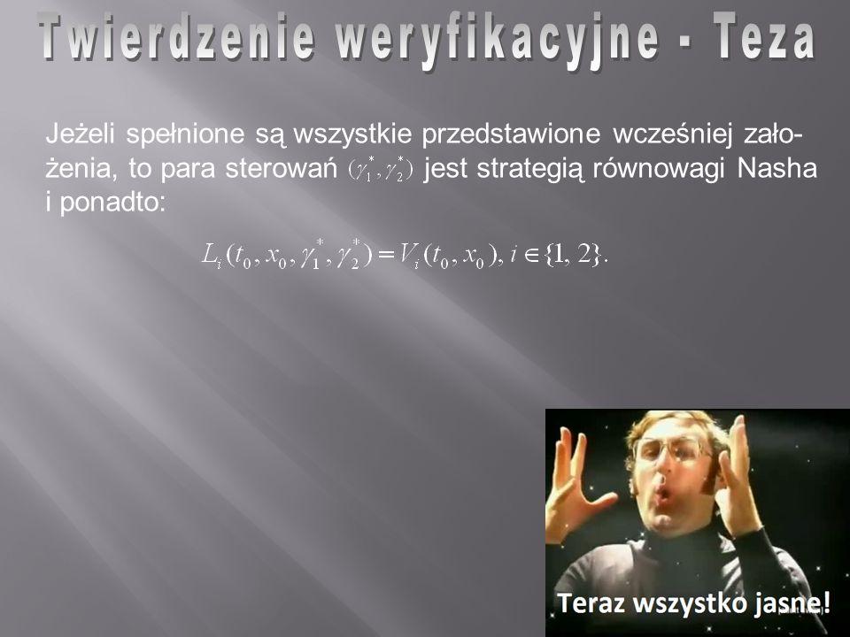 Twierdzenie weryfikacyjne - Teza