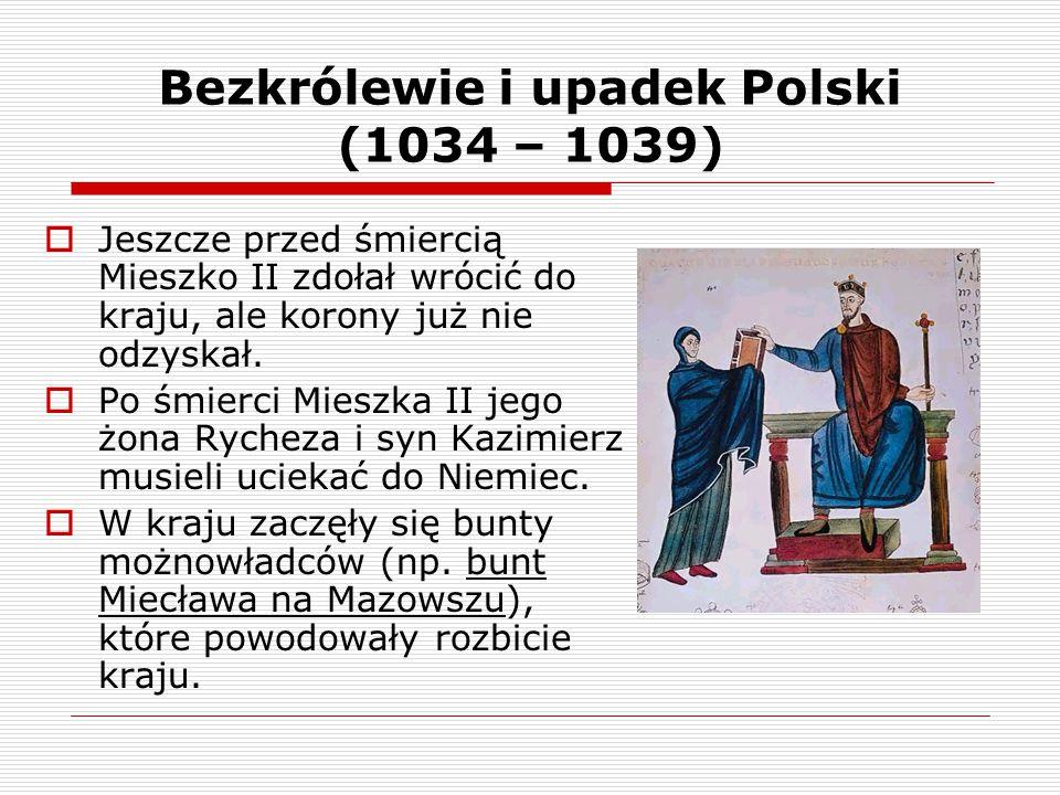 Bezkrólewie i upadek Polski (1034 – 1039)