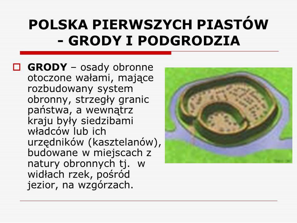 POLSKA PIERWSZYCH PIASTÓW - GRODY I PODGRODZIA