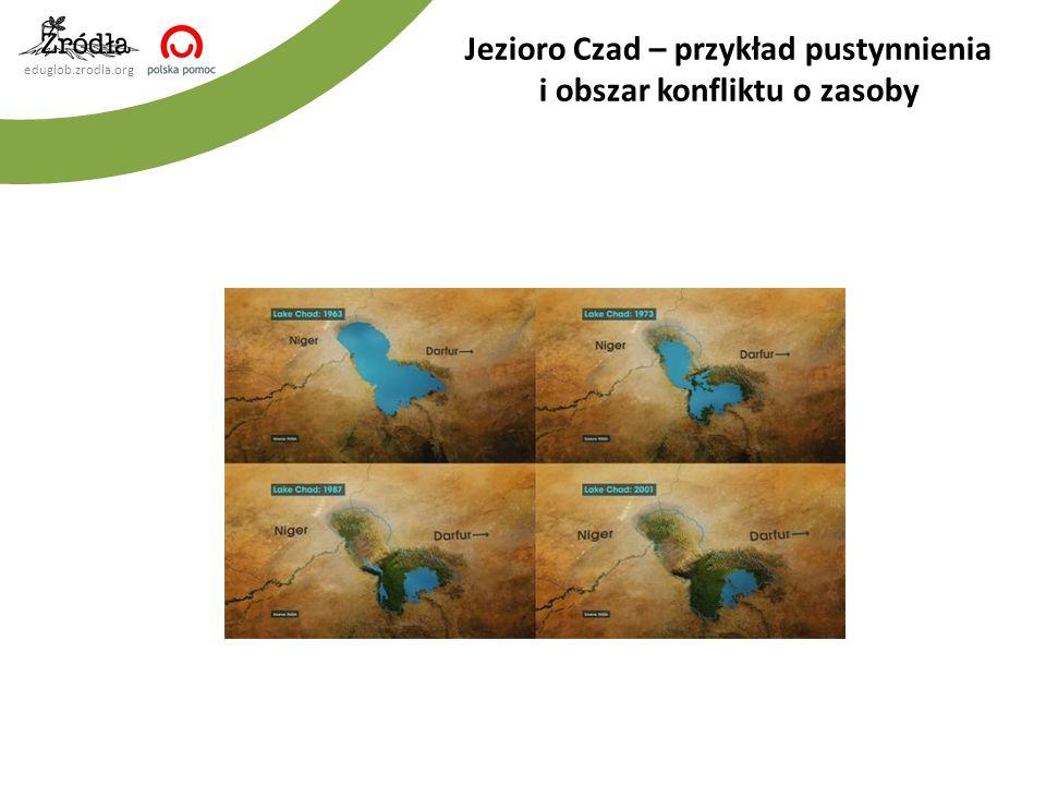Jezioro Czad – przykład pustynnienia i obszar konfliktu o zasoby