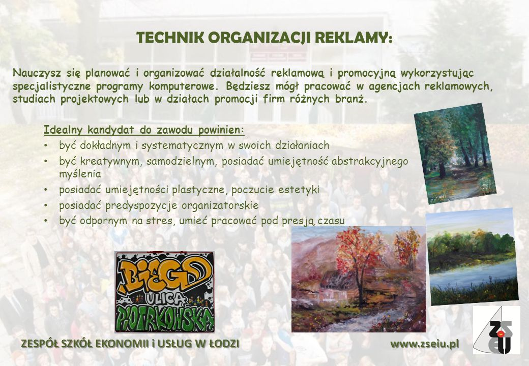 TECHNIK ORGANIZACJI REKLAMY: