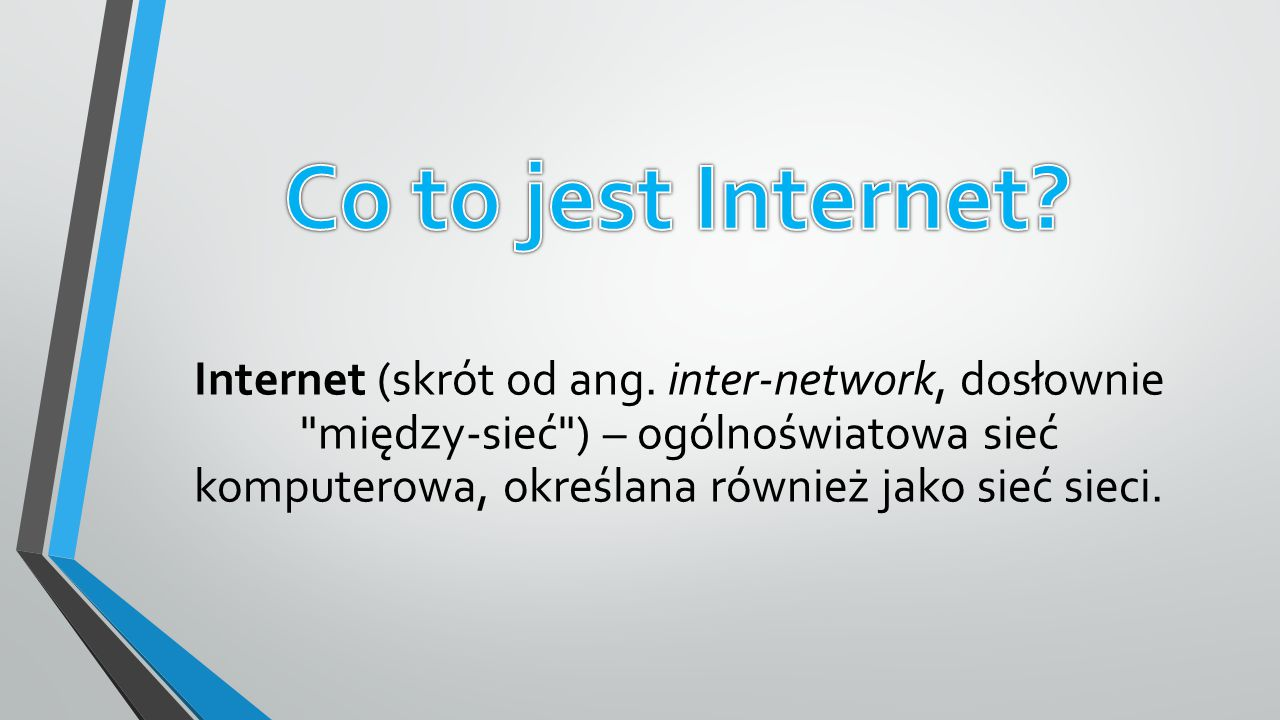 Co to jest Internet
