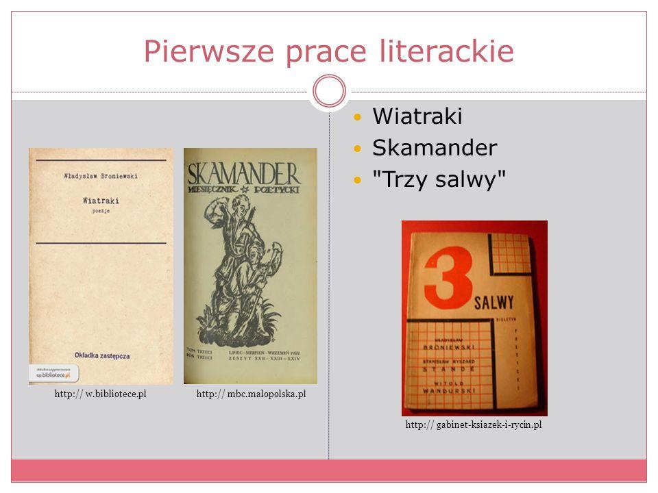 Pierwsze prace literackie