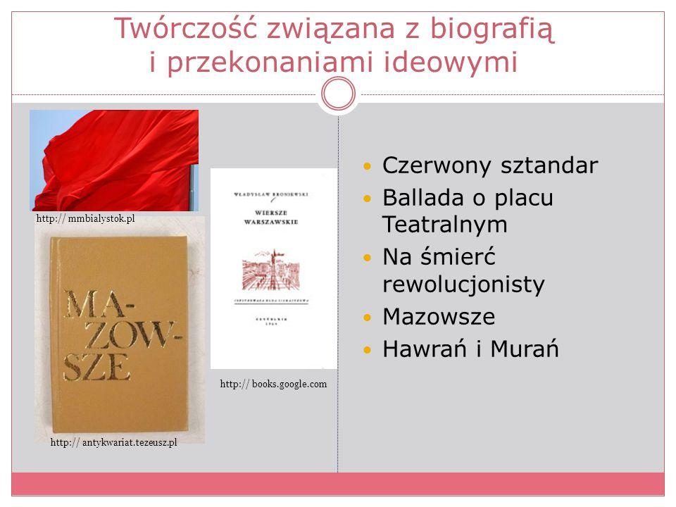 Twórczość związana z biografią i przekonaniami ideowymi