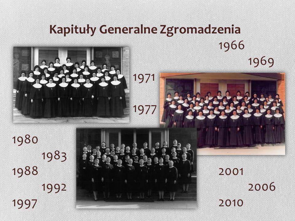 Kapituły Generalne Zgromadzenia. 1966. 1969. 1971. 1977. 1980