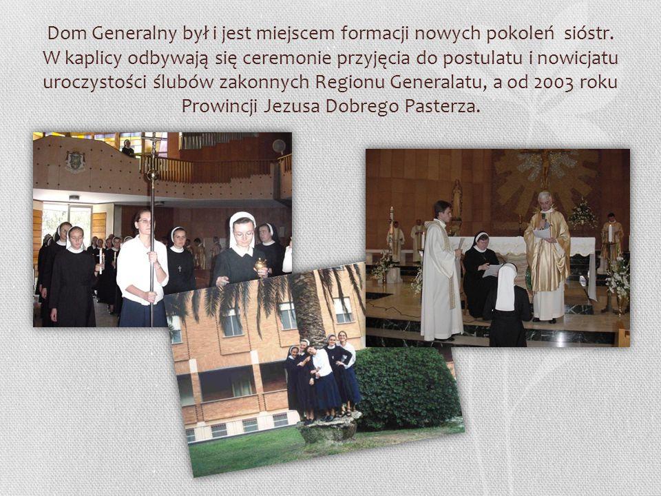 Dom Generalny był i jest miejscem formacji nowych pokoleń sióstr