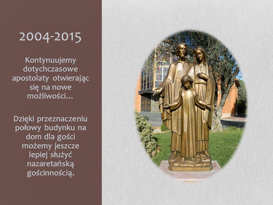 2004-2015 Kontynuujemy dotychczasowe apostolaty otwierając się na nowe możliwości…