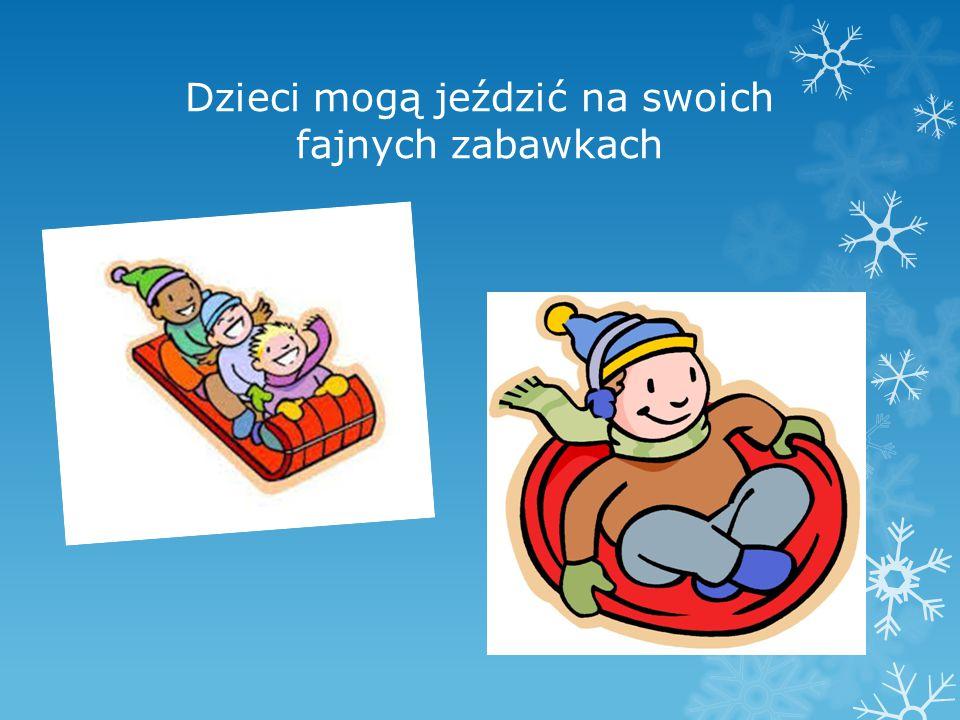 Dzieci mogą jeździć na swoich fajnych zabawkach