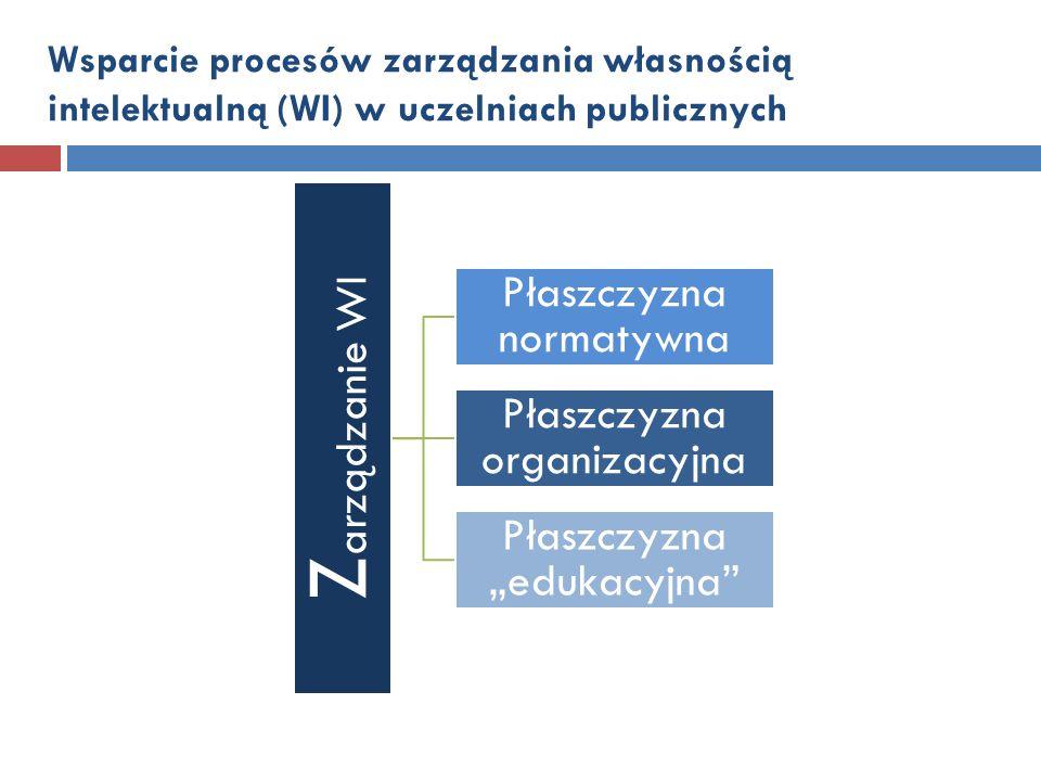 Zarządzanie WI Płaszczyzna normatywna Płaszczyzna organizacyjna