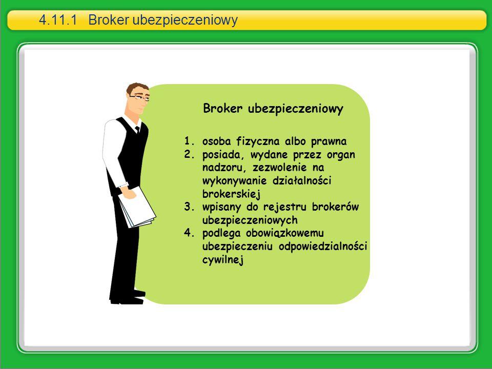 4.11.1 Broker ubezpieczeniowy
