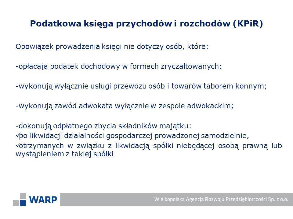 Podatkowa księga przychodów i rozchodów (KPiR)